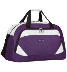 AZURE Cestovní taška ICE 7558 - fialová/stříbrná