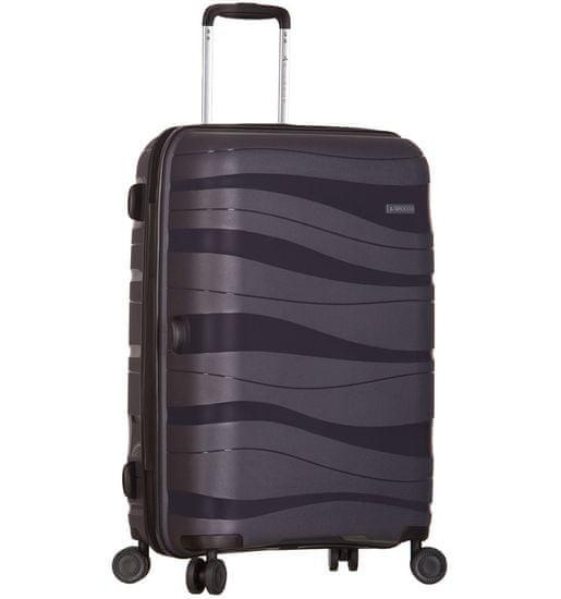 AZURE Cestovní kufr SIROCCO T-1233/3-L PC - šedá