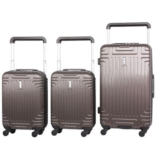 Aerolite Sada cestovních kufrů AEROLITE T-2821/3 ABS - charcoal