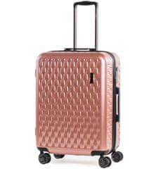 Rock Cestovní kufr ROCK TR-0192/3-M ABS/PC - růžová