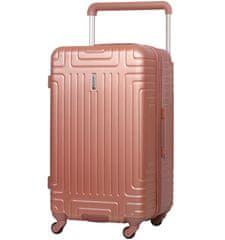 Aerolite Cestovní kufr AEROLITE T-2821/3-L ABS - růžová
