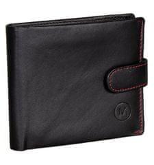 Pánská kožená peněženka METRO MTB09 - černá/červená