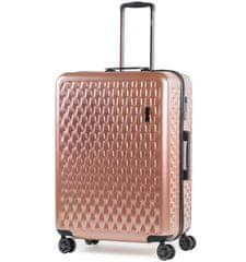 Rock Cestovní kufr ROCK TR-0192/3-L ABS/PC - růžová