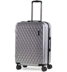 Rock Cestovní kufr ROCK TR-0192/3-M ABS/PC - stříbrná