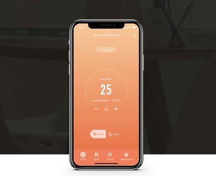 Chytrý termostat Wi-Fi ovládanie mobilom aplikáciou telefónom LARX CarbonKit