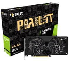 PALiT Dual GeForce GTX 1660, 6 GB GDDR5 grafična kartica