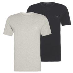 Calvin Klein dvojité balenie pánskych tričiek NB2221A S/S Crew Neck 2PK