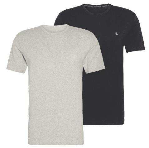 Calvin Klein dvojité balenie pánskych tričiek NB2221A S/S Crew Neck 2PK S viacfarebné