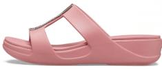 Crocs dámské pantofle Monterey Metallic Wedge W (206319-61Z)