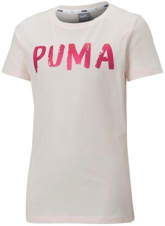 Puma dekliška majica Alpha Tee G Rosewater, 104, roza