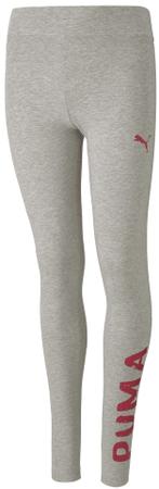Puma Alpha Leggings G tajice za djevojčice Light Gray Heather, 116, sive