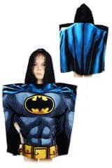 """SETINO Dziecięcy ponczo ręcznik z kapturem """"Batman"""" - czarny"""