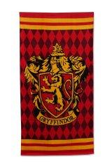 SETINO plážová bavlněná osuška - Harry Potter Griffindor - červená - 70 x 140 cm