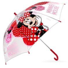 SETINO Dáždnik Minnie transparentný - červený
