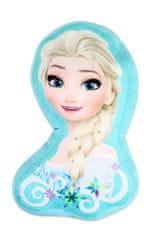 """SETINO 3D alakú párna Frozen """"Elsa"""" - 36x40 cm - türkiz"""