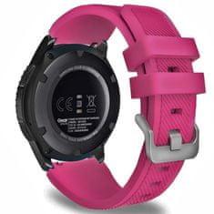 BStrap Samsung Gear S3 Silicone Sport szíj, Dark Pink