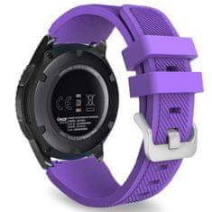 BStrap Samsung Gear S3 Silicone Sport szíj, Purple