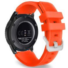 BStrap Samsung Gear S3 Silicone Sport remienok, Neon Orange