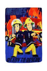 SETINO Flísová deka pre chlapcov Požiarnik Sam - 100 x 140 cm