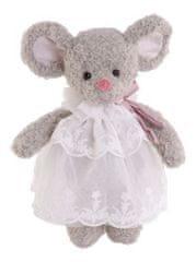 Bukowski Bukowski ANASTASIA myška šedá, bílé šaty (25cm)