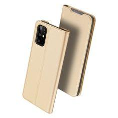 Dux Ducis Skin Pro knížkové kožené pouzdro na Samsung Galaxy S20 Plus, zlaté