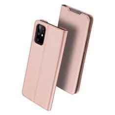 Dux Ducis Skin Pro knížkové kožené pouzdro na Samsung Galaxy S20 Plus, růžové
