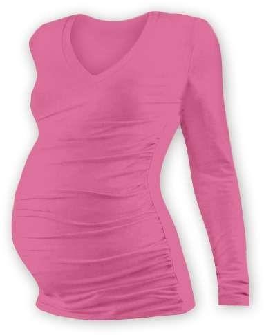 Jožánek Těhotenské tričko Vanda, dlouhý rukáv, růžové L/XL