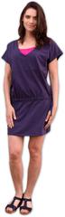 Jožánek Kojící a těhotenské šaty Valerie, švestkové fialové S/M