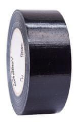 Petec Lepicí páska univerzální, textilní, 50 metrů, černá - Petec