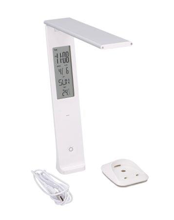 Grundig namizna svetilka, 29 LED, ura, termometer, koledar, polnilna baterija