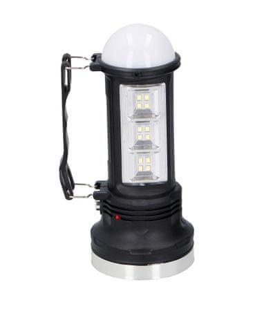 GRUNDIG Hordozható napelemes lámpa 6+12 LED
