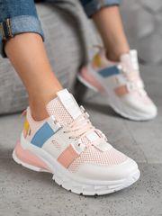 Klasické dámské vícebarevné tenisky bez podpatku