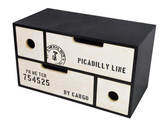 TimeLife Dekoračná skrinka na drobnosti 30x15x17 cm