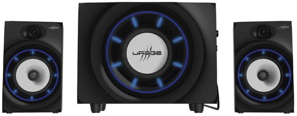Głośniki komputerowe 2.1 Hama uRage SoundZ 2.1 Essential (113764), bluetooth, slot na karty SD, USB, podświetlenie, subwoofer