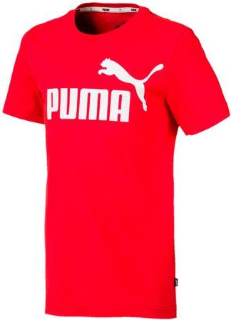 Puma koszulka chłopięca ESS Logo Tee B High Risk Red 110 czerwona