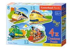 Castorland 4v1 Funny Trains 8 dielikov