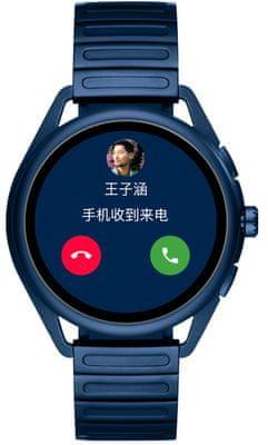 Chytré hodinky Armani Gen5 Matteo, bezkontaktní platby NFC Google Pay, reproduktor, mikrofon, hudební přehrávač, telefonování, volání, Spotify