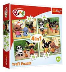 Trefl Puzzle Bing Bunny 4w1 Szczęśliwy dzień Binga