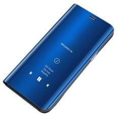 MG Clear View knížkové pouzdro na Samsung Galaxy S10 Lite, modré