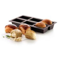 Lékué Silikonová pečicí forma na chleba 6 ks Lékué Mini Bread | hnědá