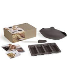 Lékué Sada na pečení chleba a baget Lékué Kit Bread Starter | hnědá