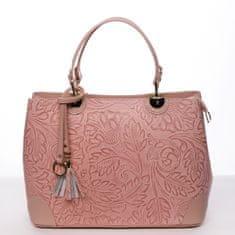 Delami Vera Pelle Luxusní dámská kožená kabelka Johana růžová
