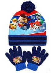 SETINO Chlapčenská čiapka a prstové rukavice Lapková patrola - Paw patrol - tmavo modrá