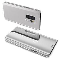 MG Clear View könyv tok Samsung Galaxy S10 Plus, ezüst