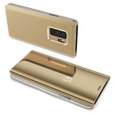 MG Clear View knižkové pouzdro pro Samsung Galaxy A10, zlaté