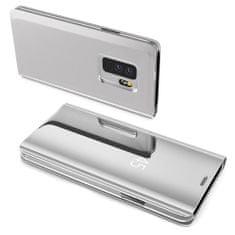 MG Clear View knižkové pouzdro pro Samsung Galaxy A70, stříbrné