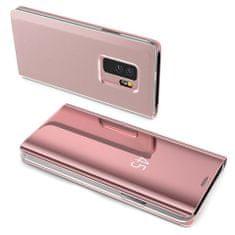 MG Clear View könyv tok Samsung Galaxy S10 Plus, rózsaszín