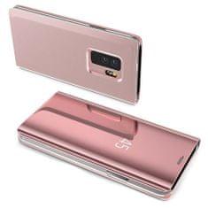 MG Clear View knižkové púzdro pre Samsung Galaxy A10, ružové