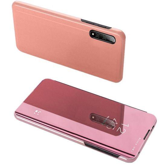 MG Clear View knižkové púzdro na Samsung Galaxy A71, ružové