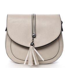 Romina & Co. Bags Stylová crossbody kabelka s třásněmi Federica, béžová